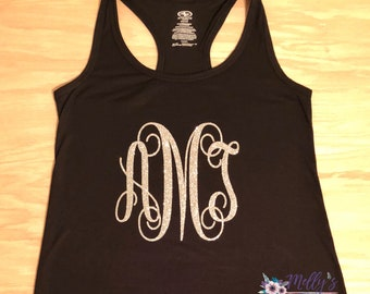 Custom Monogrammed workout tank tops