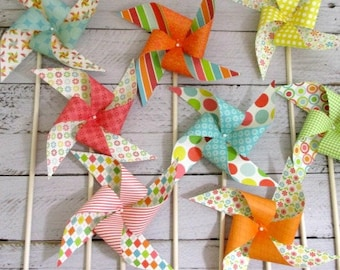 Birthday Decorations Paper Pinwheel Party Favors Summer Birthday Party Decorations Birthday Favors Flower Birthday Decor Table Centerpiece