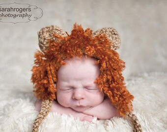 Lion Hat Diaper Cover Newborn Set Photo Prop Baby Cap Animal Safari Shower Gift Hand Knit Infant Zoo Photography Knitted Boy Africa Critter