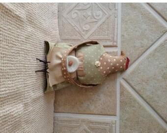 Chicken Folk Art  Doll Primitive Chicken Hen Dressed Chicken