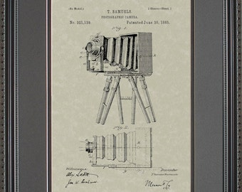 Early Camera Patent Artwork Photographer Gift S1139