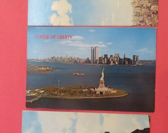 3 Vintage NY City Postcards