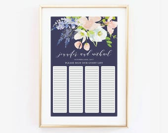 Wedding Guest Book Sign, Guestbook Poster, Printed Guest Book Sign, Wedding Guestbook, Guestbook Ideas, Canvas or Large Art Print #CL195
