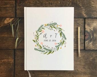 Floral Wedding Guest Book. Custom Wedding Guestbook. Custom Wedding Gift. Wedding keepsake. Wedding Book. Wedding Journal