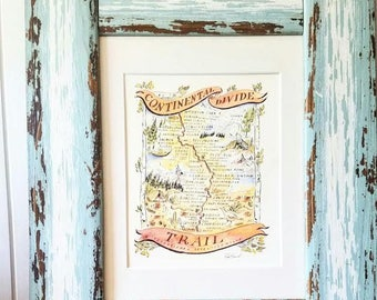 Continental Divide Trail Map Print
