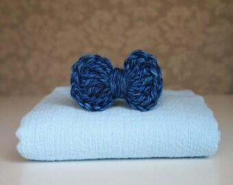 Newborn Bowtie, Newborn Cotton Wrap, Newborn Boy Photography Prop, Cotton Wrap, Newborn Photo Prop, Crochet Bowtie, Newborn Boy Prop Set