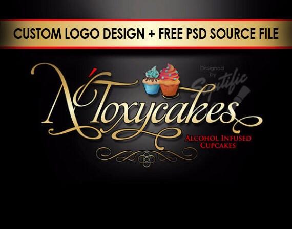 Cup Cake Logo, Logo, Logo Design, Custom Logo Design, Logos, Custom logo, Business Logo, Creative logo, Logo Design Service, Bakery Logo
