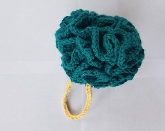 Handmade Blue Shower Puff