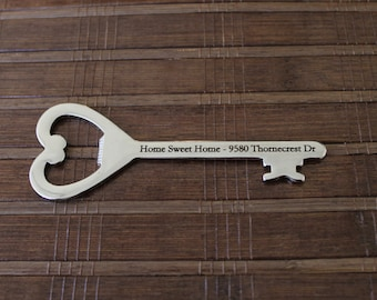 Custom House Warming Key Shaped Bottle Opener Gift