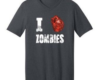 ON SALE - I Love Zombies - Men's V-neck