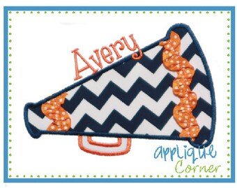 Megaphone design (ALL Colors can be changed to represent ANY school/team) Appliqued on a Children's Shirt