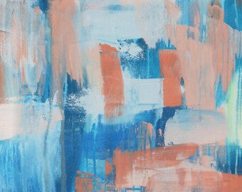 Ocean // Artist Charlie Albright // Blog Moments by Charlie // Abstract Art in Acrylics