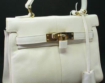 Vintage Susan Gail Bellido Made in Spain Snakeskin Kelly Bag