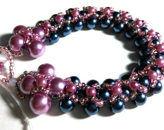 Mauve & Blue Passion Bracelet