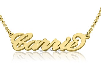 14K Solid Gold Name Necklace -  Any name you wish, personalized name necklace