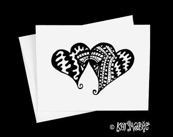 Heart Notecard Blank Inside Single Card