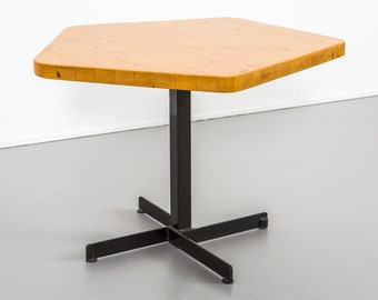 Les Arcs Pentagonal Table by Charlotte Perriand