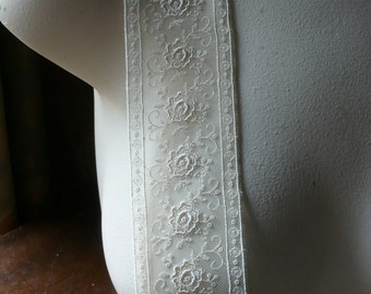 SALE Ivory Lace Trim from France for Bridal, Sashes, Straps, Lingerie, Garments, Costumes