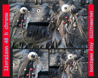 Application customisation country leather feathers