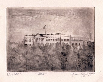 The Castle, Intaglio, Copperprint, Engraving