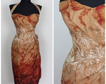 1950s Alfred Shaheen Sarong Dress - Vintage 50s Sarong Dress - Size XXS, XS, Extra Small