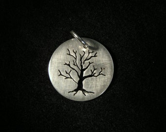 Sterling Silver Tree Silhouettes