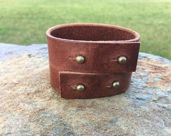 Leather Cross-over Cuff