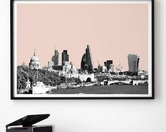 London Art Prints - London Skyline - City Print - Travel Poster - London Themed Gift - Large Wall Art Prints - A3 Prints - A2 Prints