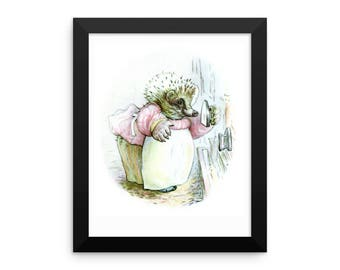 Mrs Tiggy Winkle Framed Poster, Beatrix Potter Peter Rabbit Framed Art Print