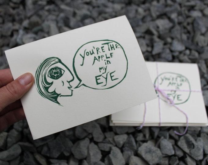 You're the Apple In My Eye Card