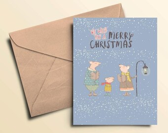 We Wish You A Merry Christmas Cards