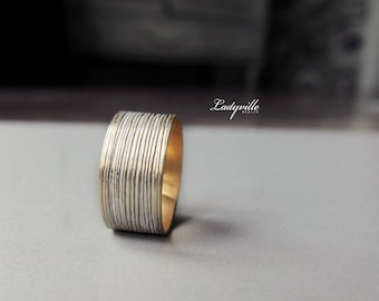 Vintage Ring with White Patina