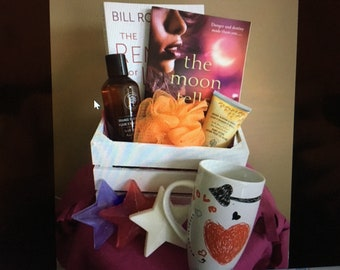 Love and Care Romance Book Crate-  Beauty and Self Wellness- open up for a box of romance