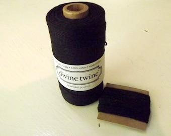 Black String Divine Twine 10 Yards Cotton