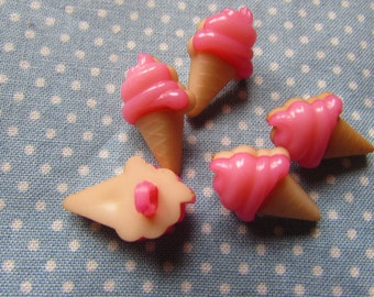 21mm Ice Cream Buttons