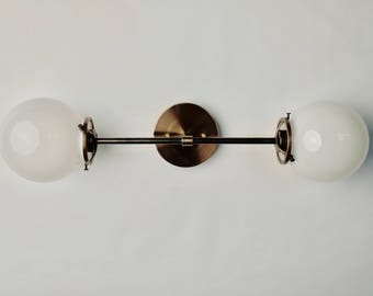 Bolt wall sconce, globe wall light, vanity light