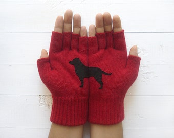 Women's Gloves, Labrador Gloves, Pet Pamperer Gift, Winter Sale, Dog Lover Gift, Gift For Her, Labrador Gift, Pet Lover Gift, Mom's Gift