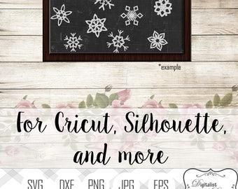 Christmas svg bundle, Snowflake svg, christmas svg, winter svg, silhouette, vector, merry christmas clipart, cricut cut files, snowman svg