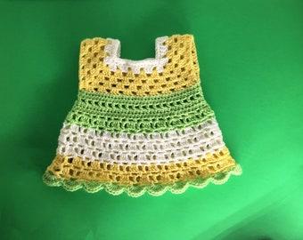 Spring mix Crochet Baby Dress