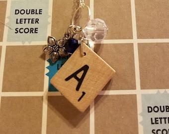 Scrabble tile A necklace