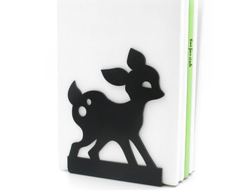 Deer Bookend  Black, Modern And Minimalistic Style.