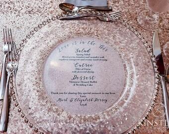 Vellum Menus • Translucent Round Menu • Any Size Circle Menu • Charger Menu • Reception Menu Cards