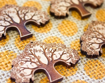 Laser Cut Supplies - Cherry Wood Tree of Life | Pendant |  Jewellery, Craft