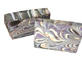 Swirl It Up Soap (Black amber & lavender)