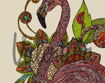 Royal flamingo - 8x10 print