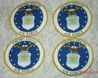 Airforce iron on appliques