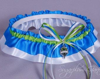 Seattle Sounders Wedding Garter