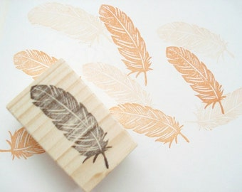 Feather stamp, Wedding invitation, DIY wedding decoration, Boho style wedding , Custom stamp, Gift wrapping, Hobonichi stamp, Handmade stamp