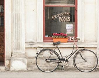 "Rustic Photography, Bike Photo, ""The Bookstore"""