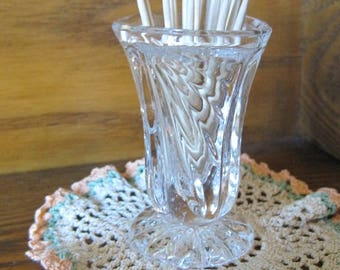 Glass Toothpick Holder